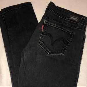 low rise black levi jeans